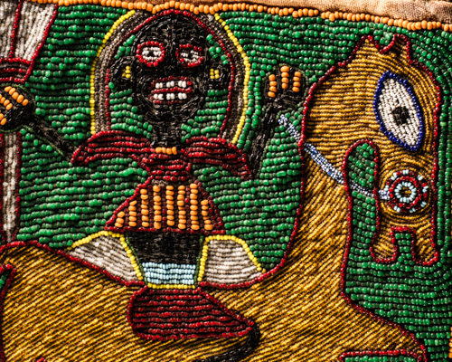 Divination bag, Yorùbá people, West Africa.